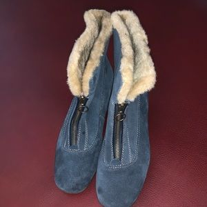 Sporto Blue Suede Waterproof Boots